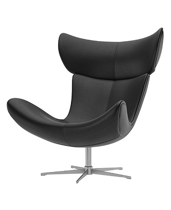 Black leather Imola recliner