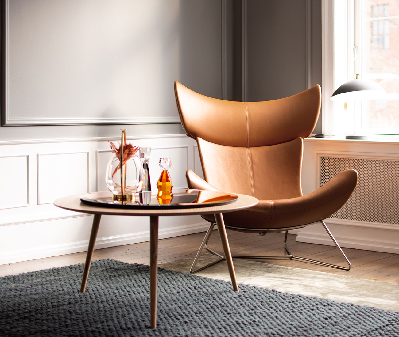 Imola chair in camel leather