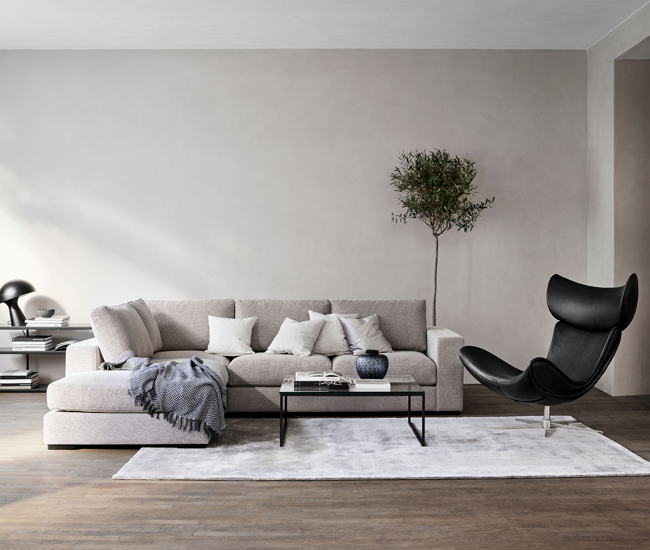 Sofa and Imola chair in living room