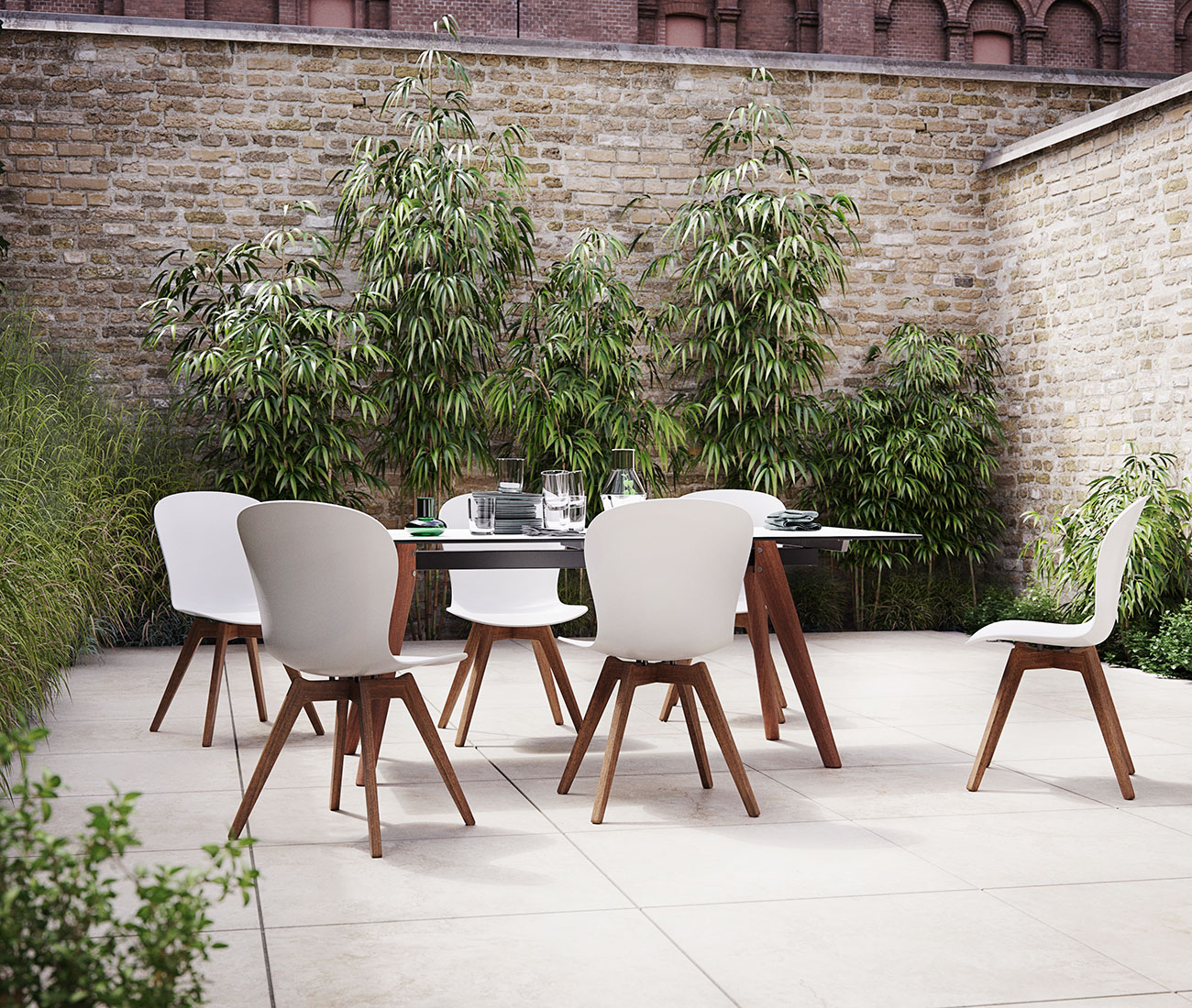 White Adelaide outdoor dining set