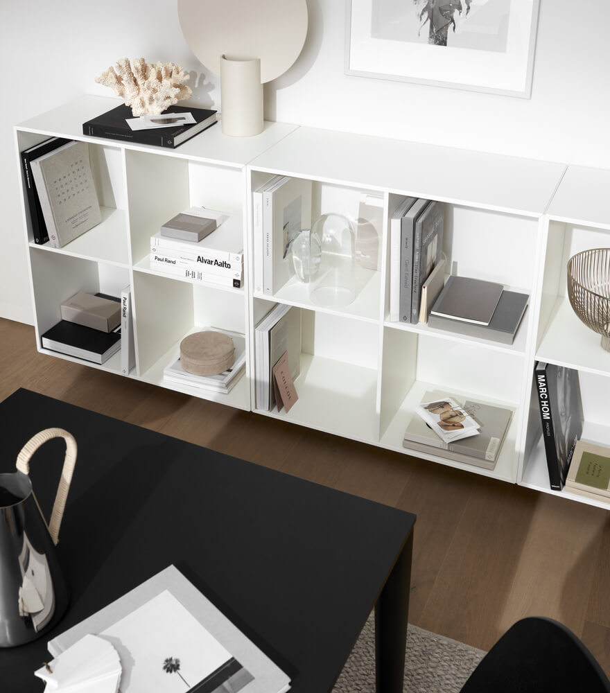 The como storage book case