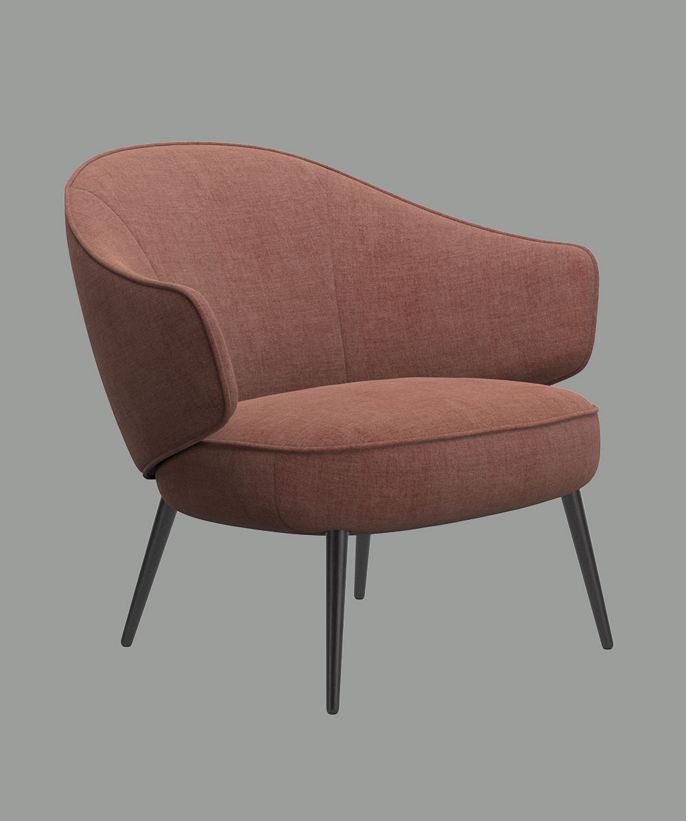 Fauteuil Charlotte rose
