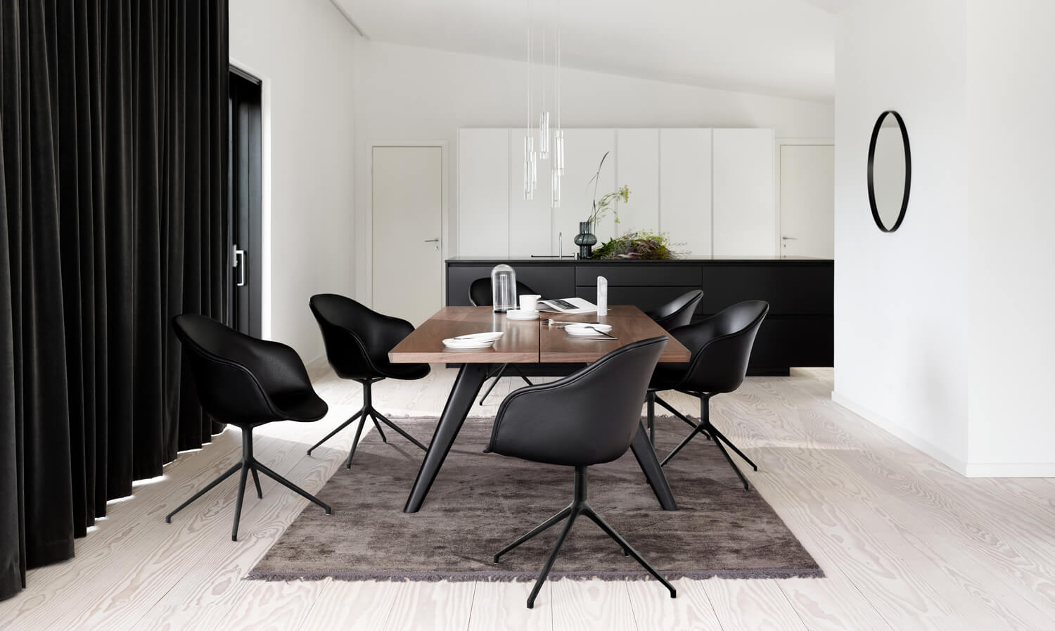 Dining room with the Adelaide dining chair