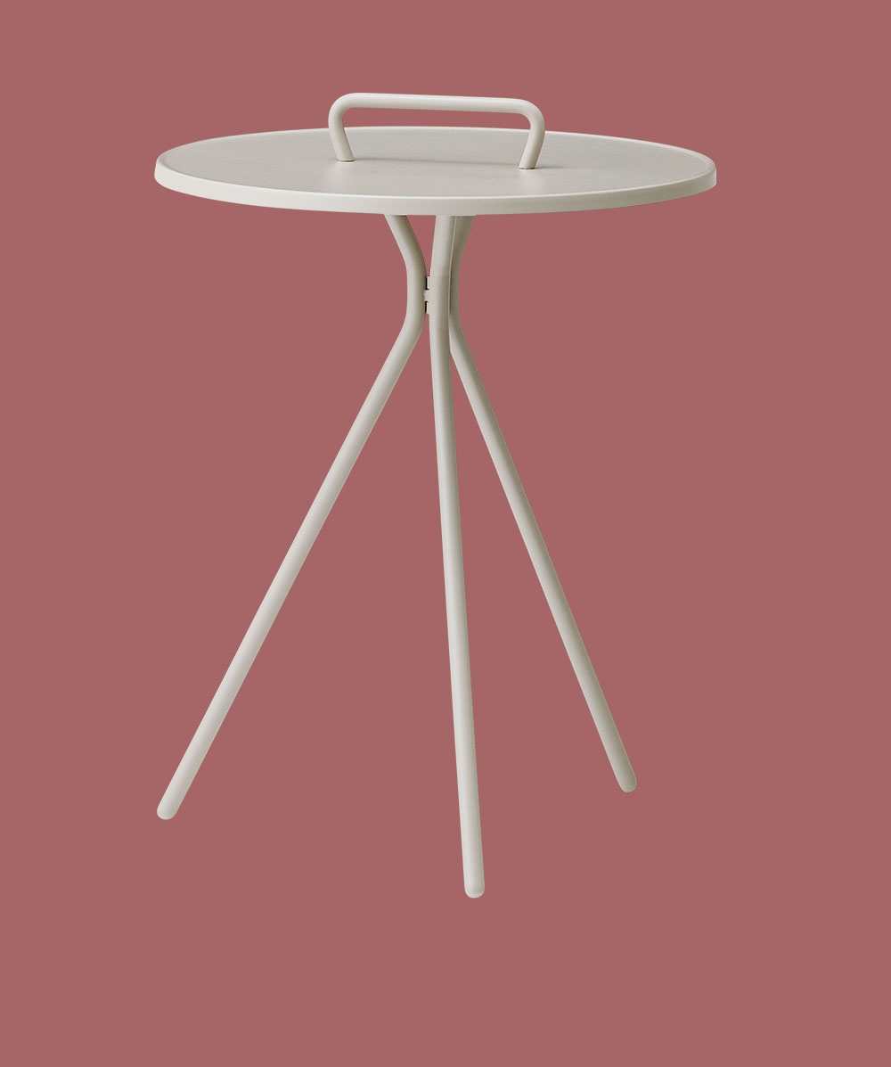 White Bermuda side table
