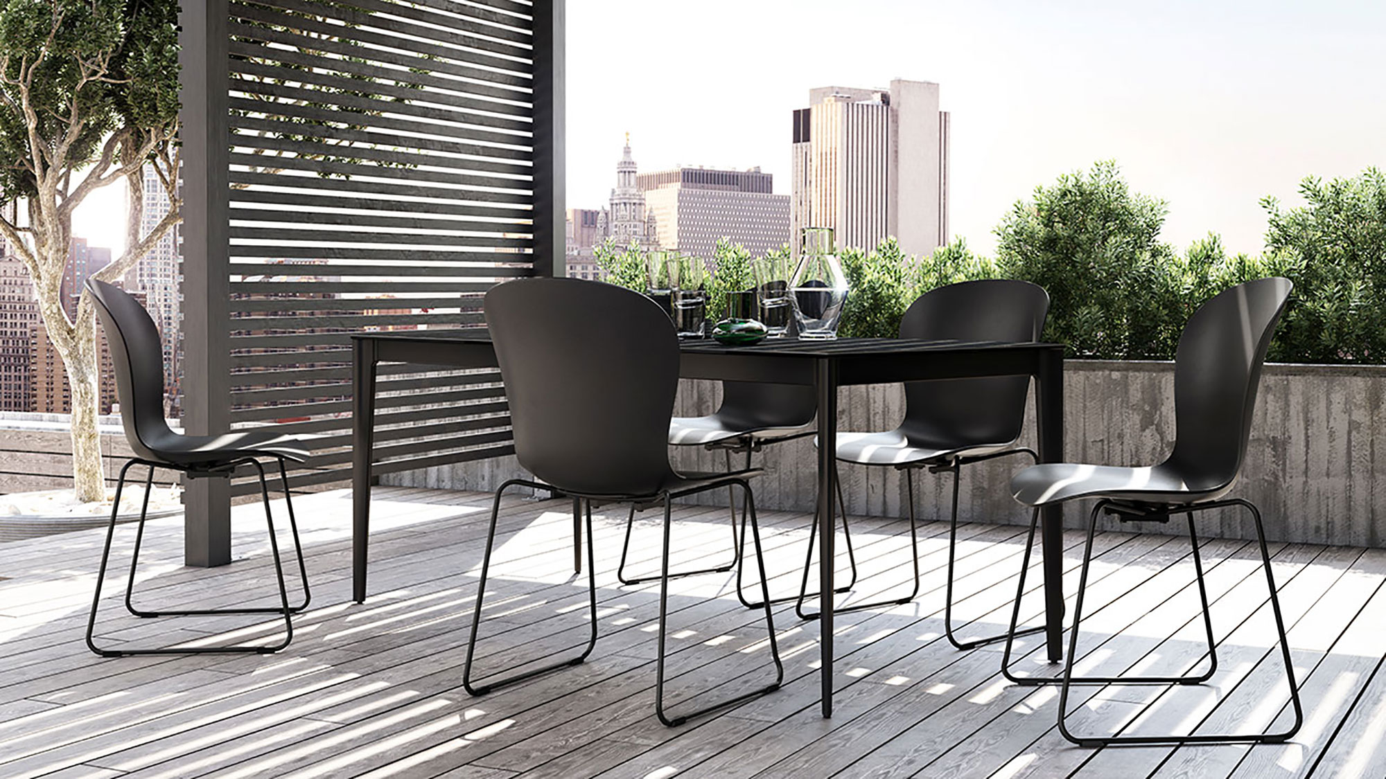 Black Adelaide outdoor dining set