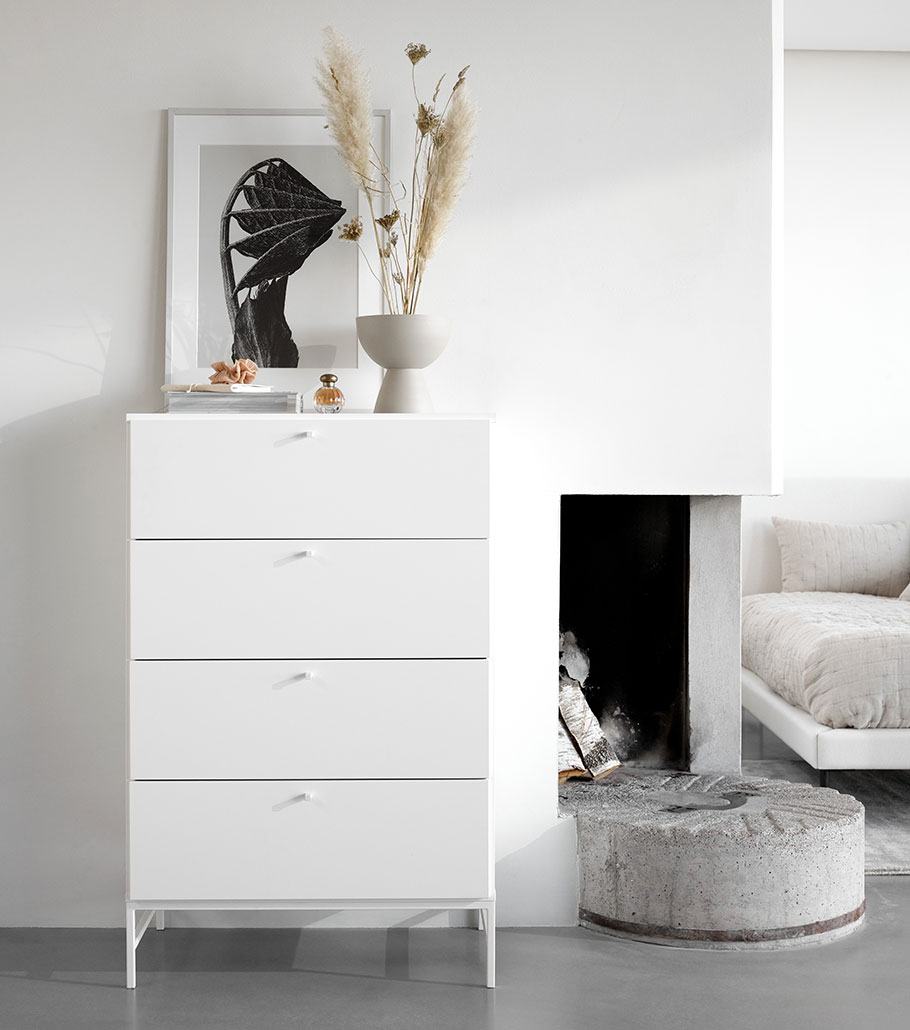 White lugano chest draw