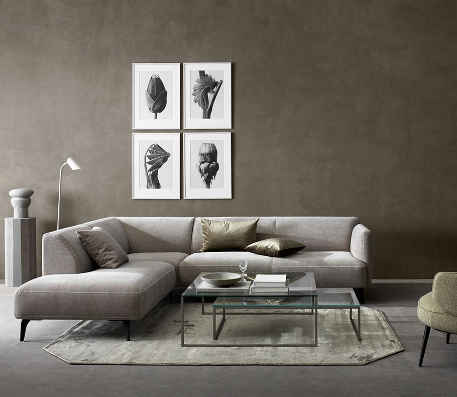 Grey sofa and matching coffee table