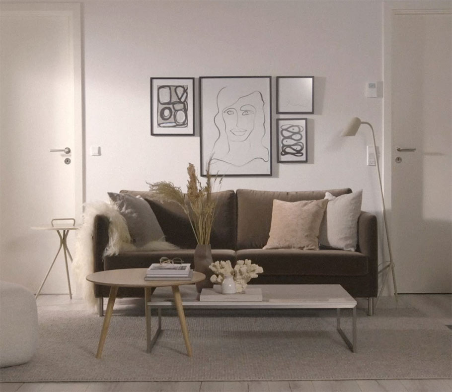 Scandi sofa styling