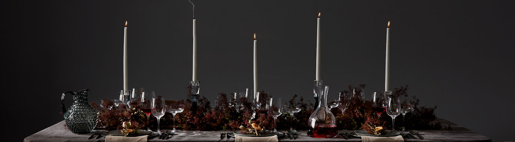 Table setting inspiration for Christmas