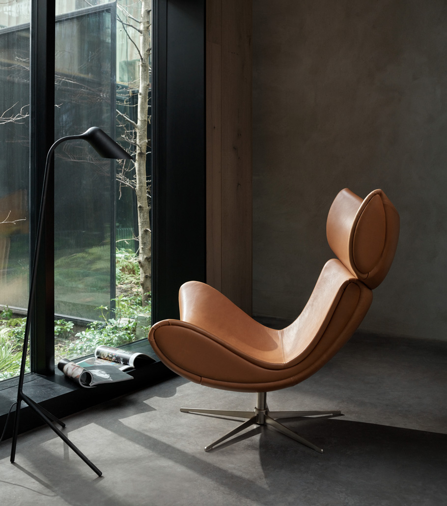 The Iconic armchair in leather