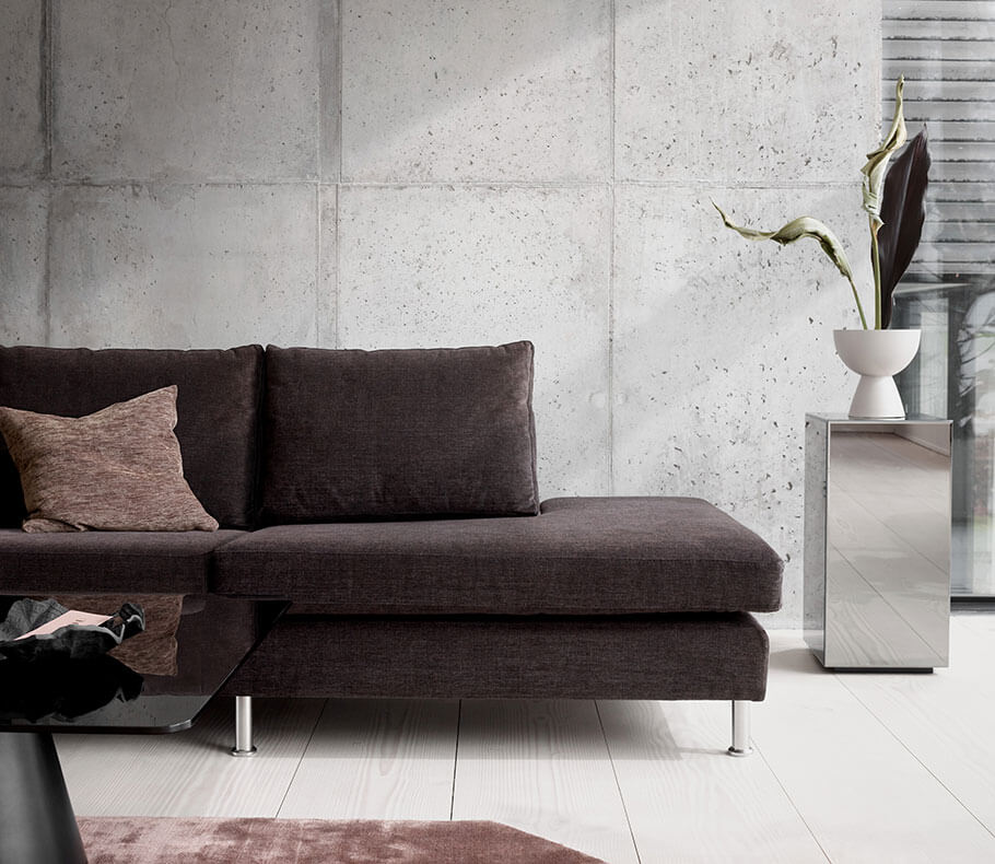 Dark brown Indivi sofa