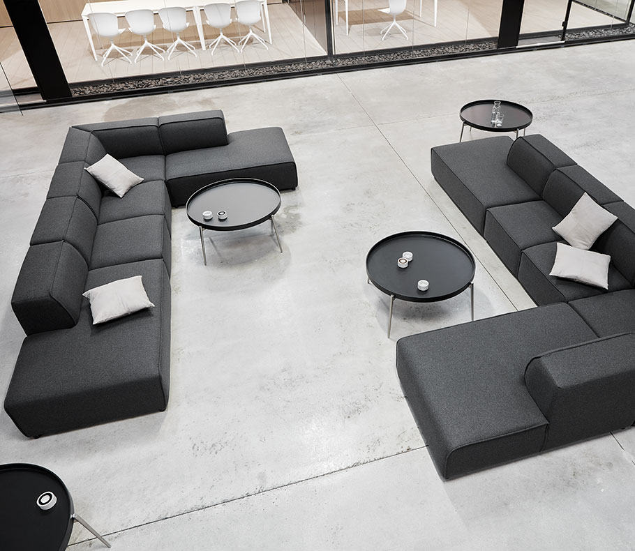 Dark grey sofas