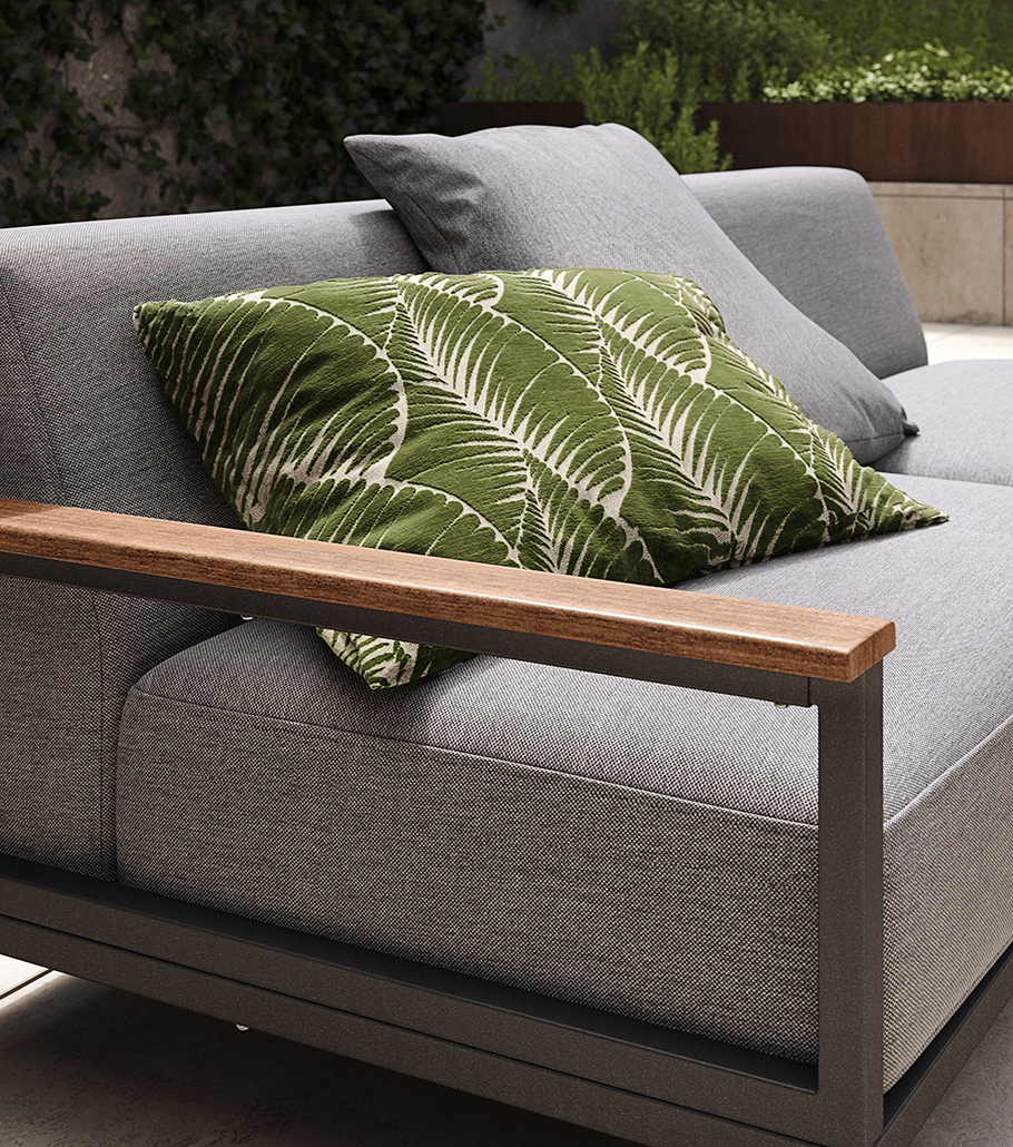 Outdoor grey lounge set