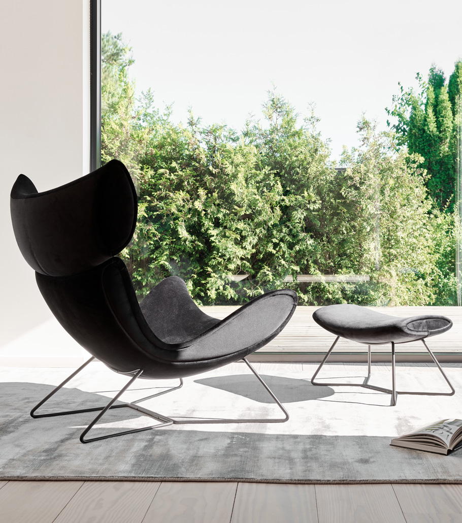 Imola chair with matching footstool