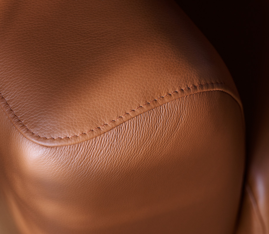 Caramel leather
