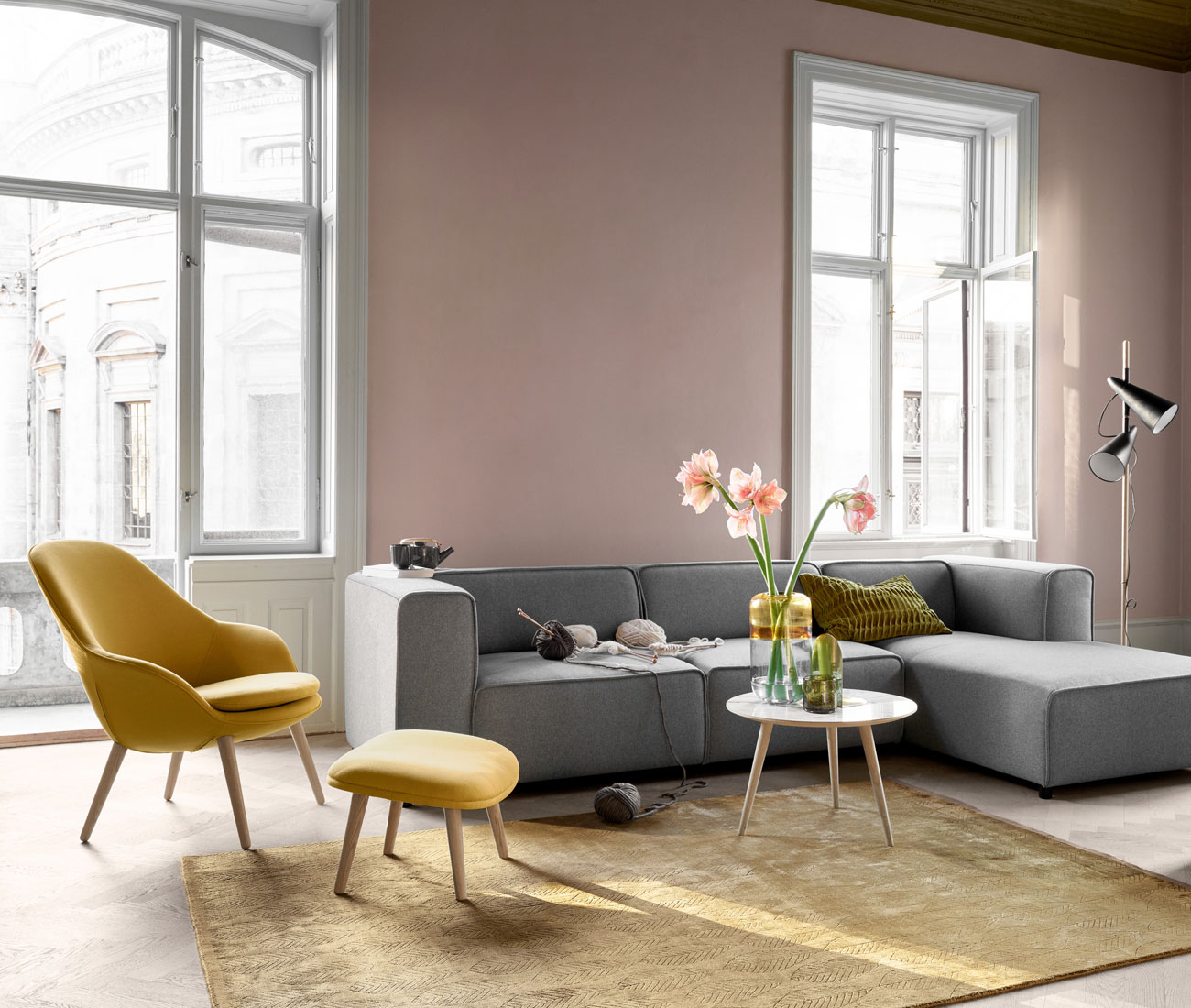 Colour interior styling