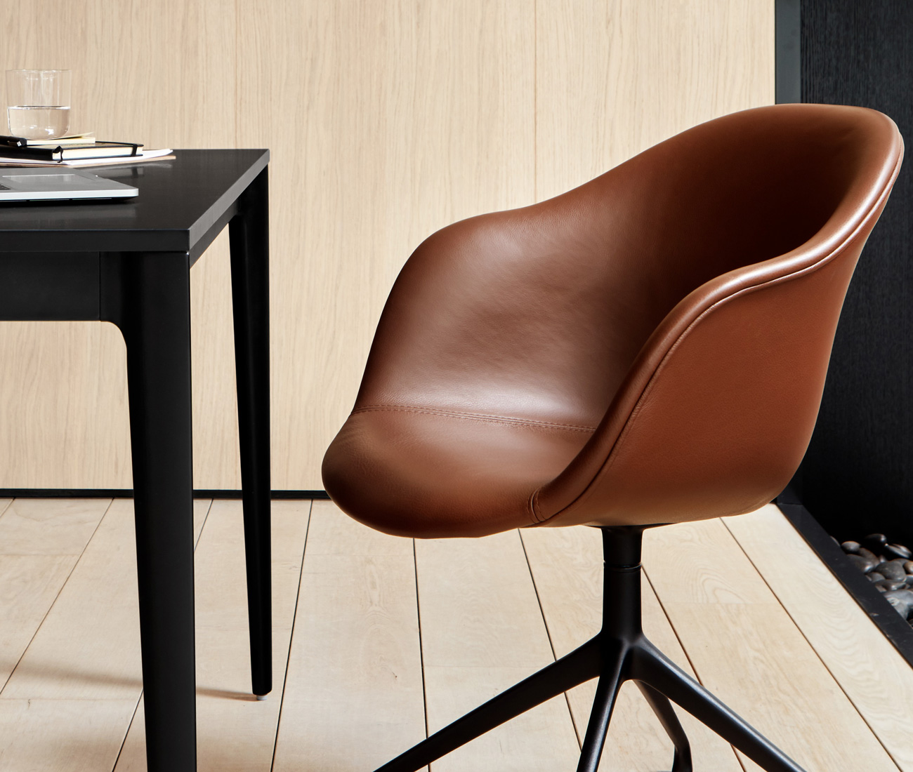 Adelaide chair in brown leather