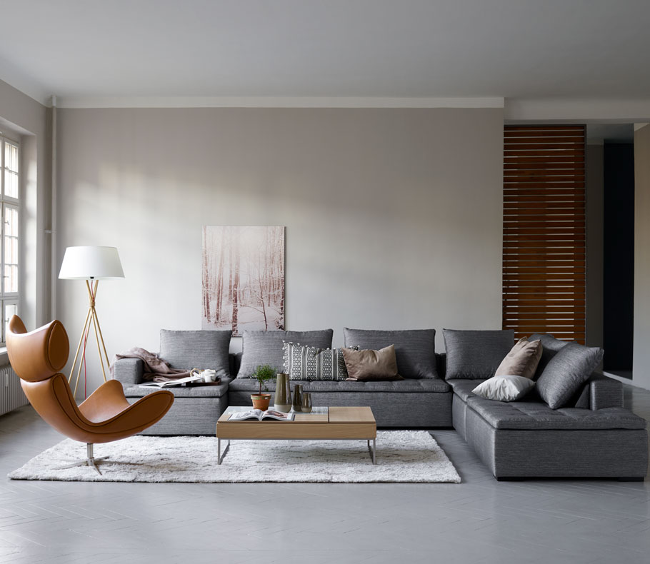 Northern style living room with design icons