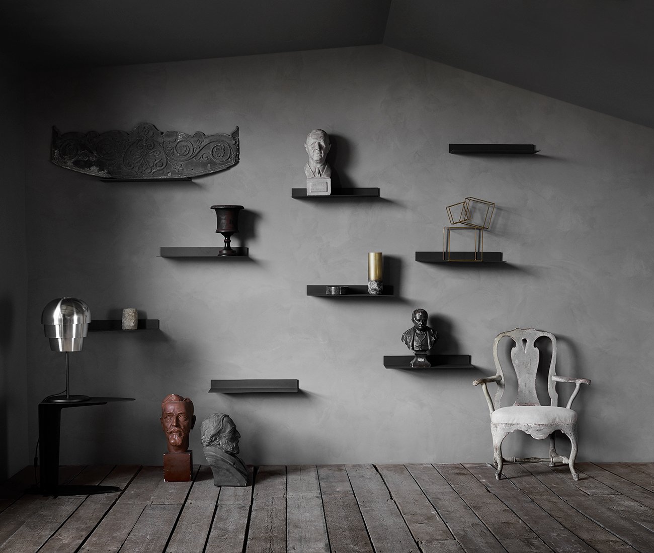 Black Como shelves inspiration