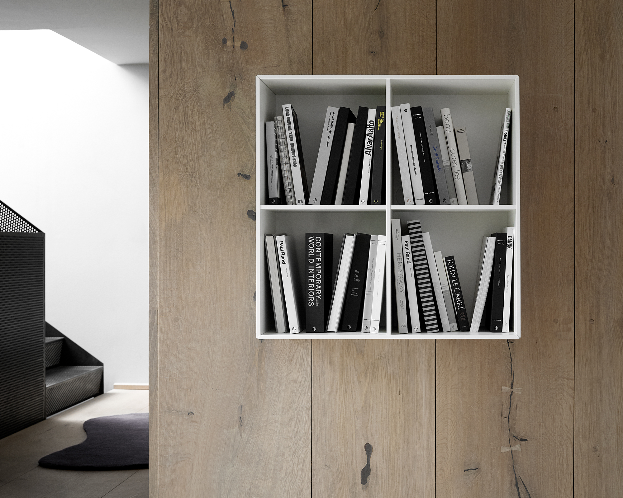 White Como bookcase