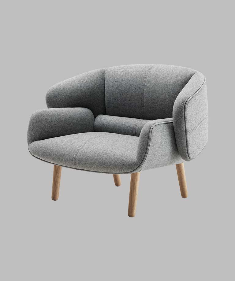 Grey Fusion living chair