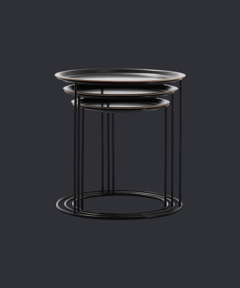 Black Cartagena tables