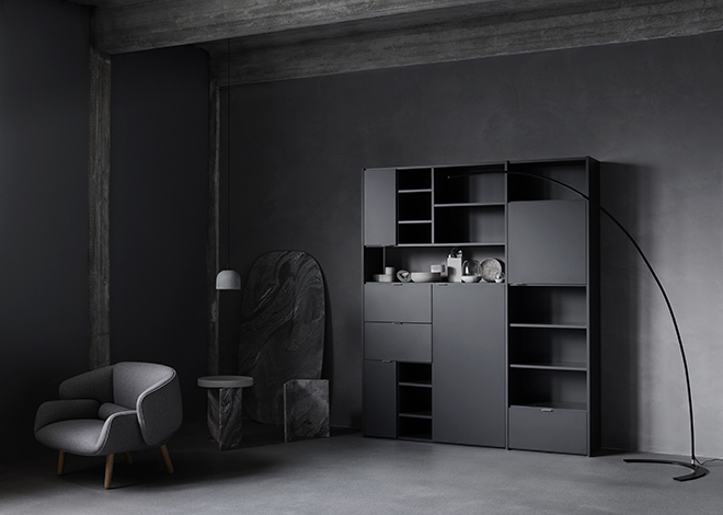 Black Copenhagen wall system inspiration