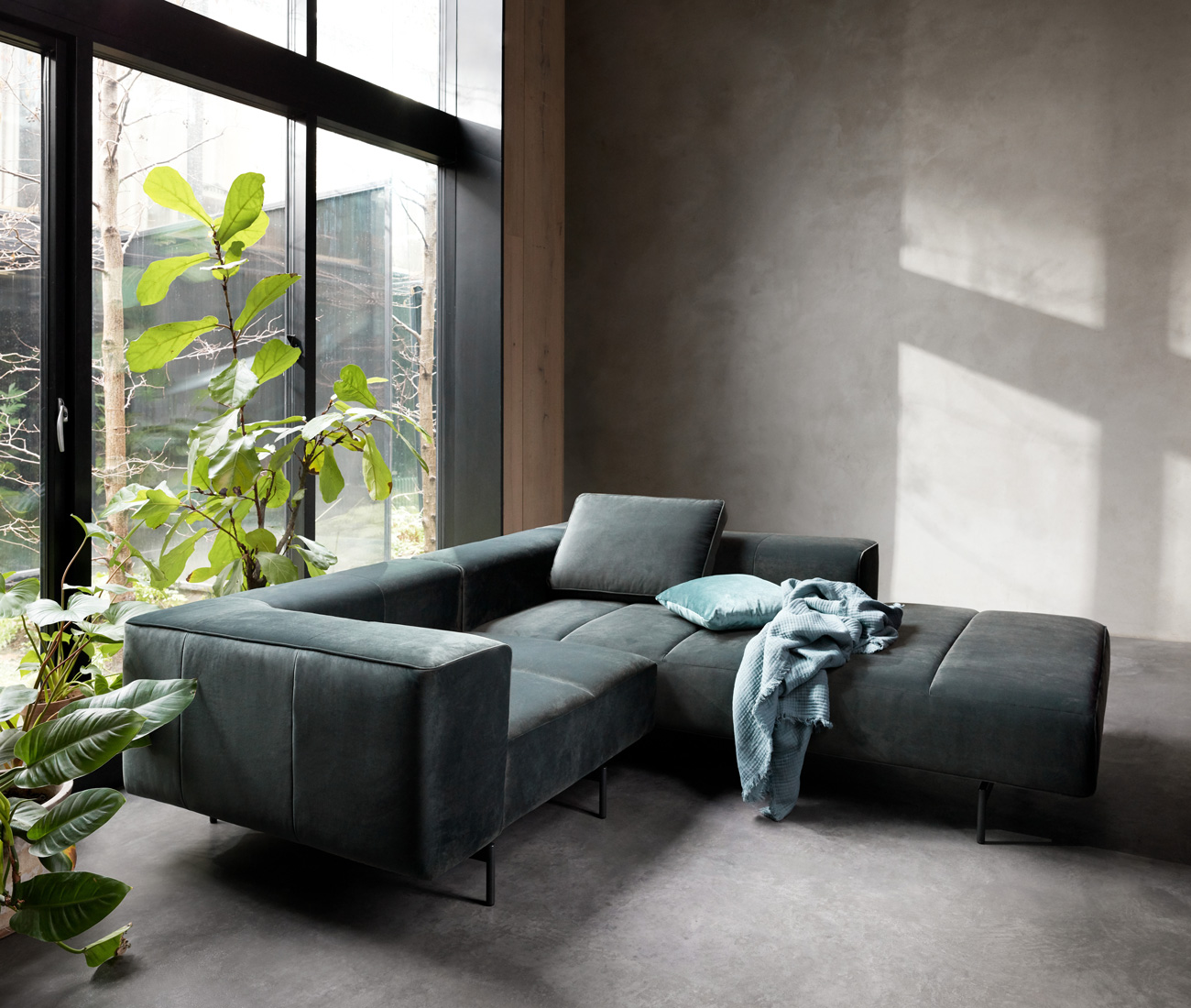 Dusty grey sofa