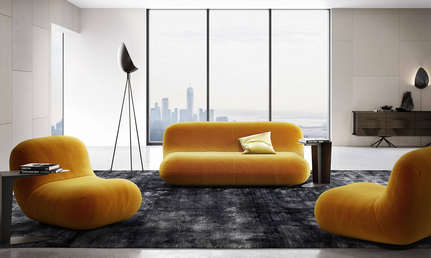 Soft curves sofa - Chelsea collection by Karim Rashid