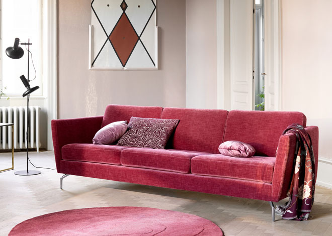 Romantic red sofa by BoConcept