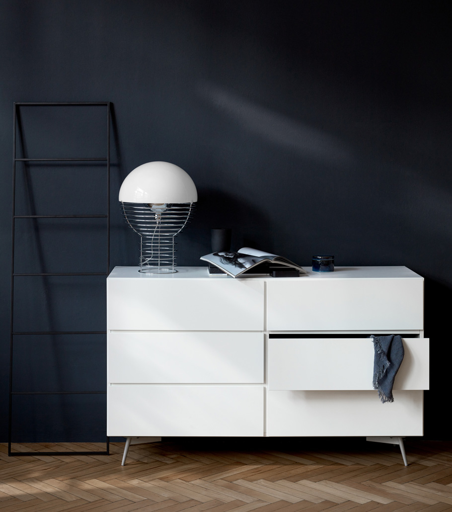 Laguno double dresser in white