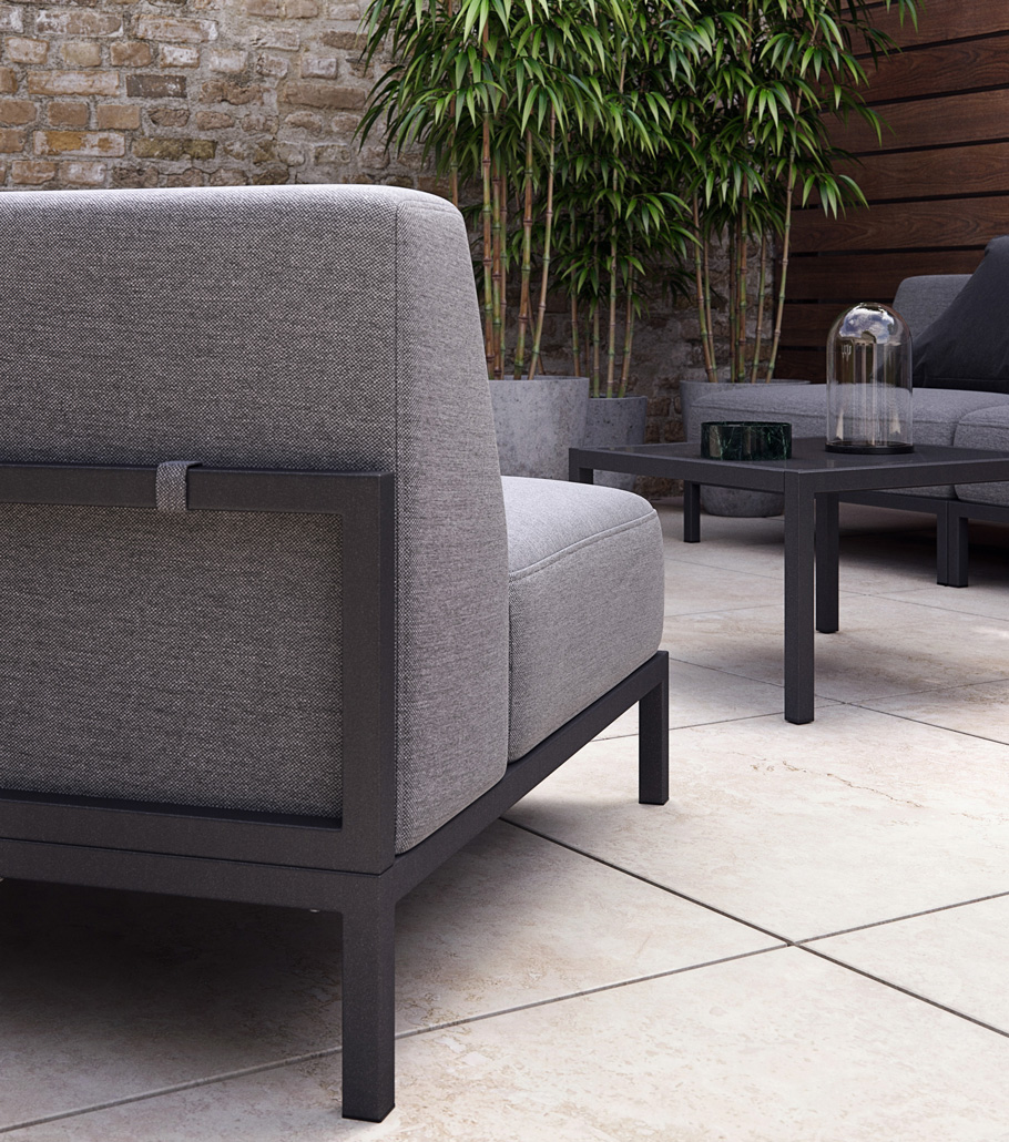 Grey outdoor lounge sofa