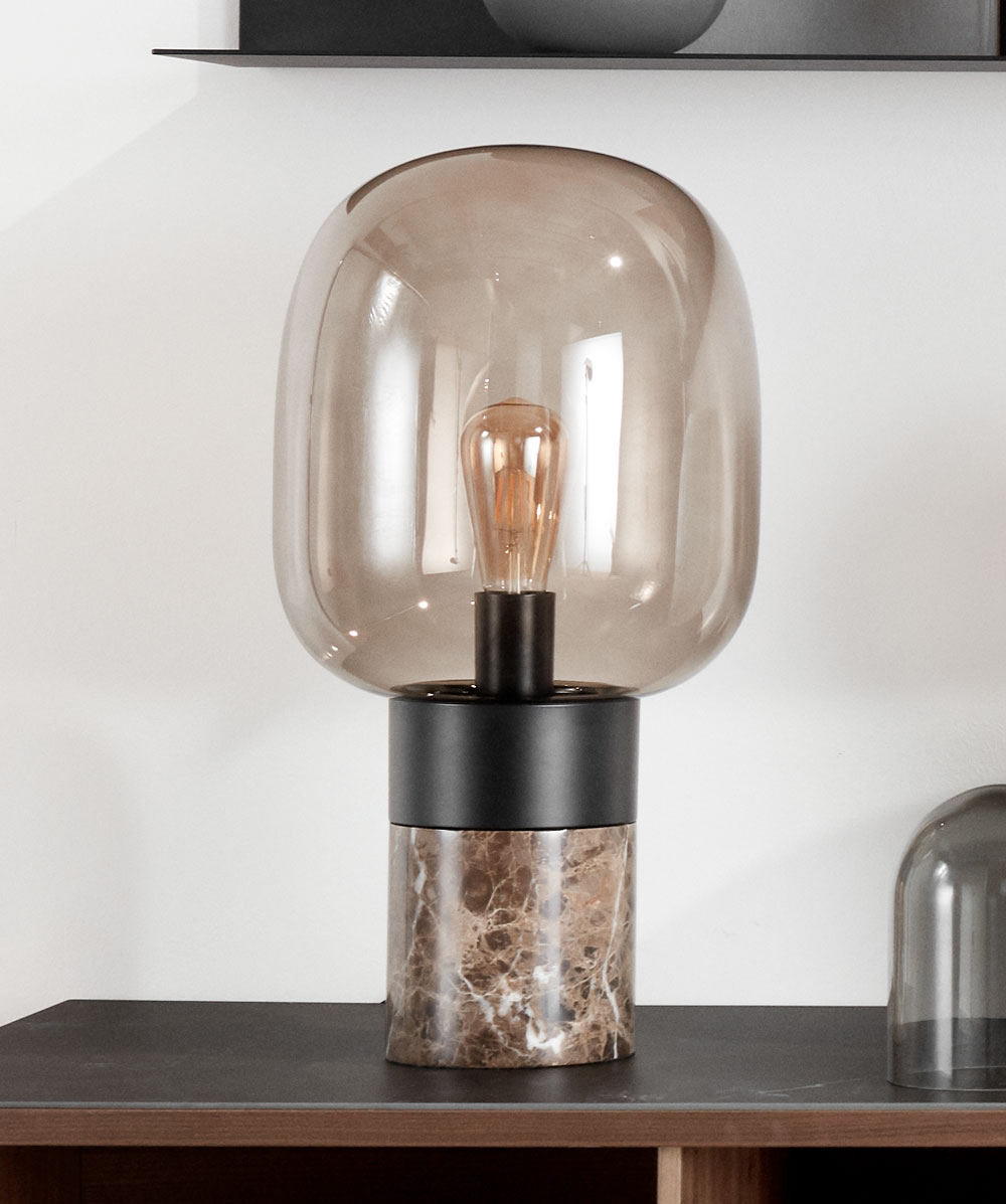 Black and brown Stockholm table lamp