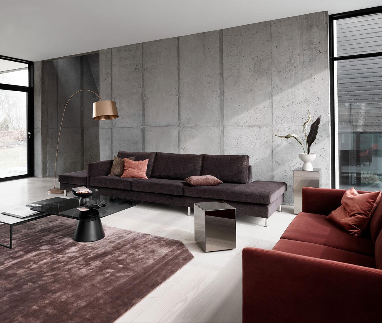 Dark velvet Indivi sofa