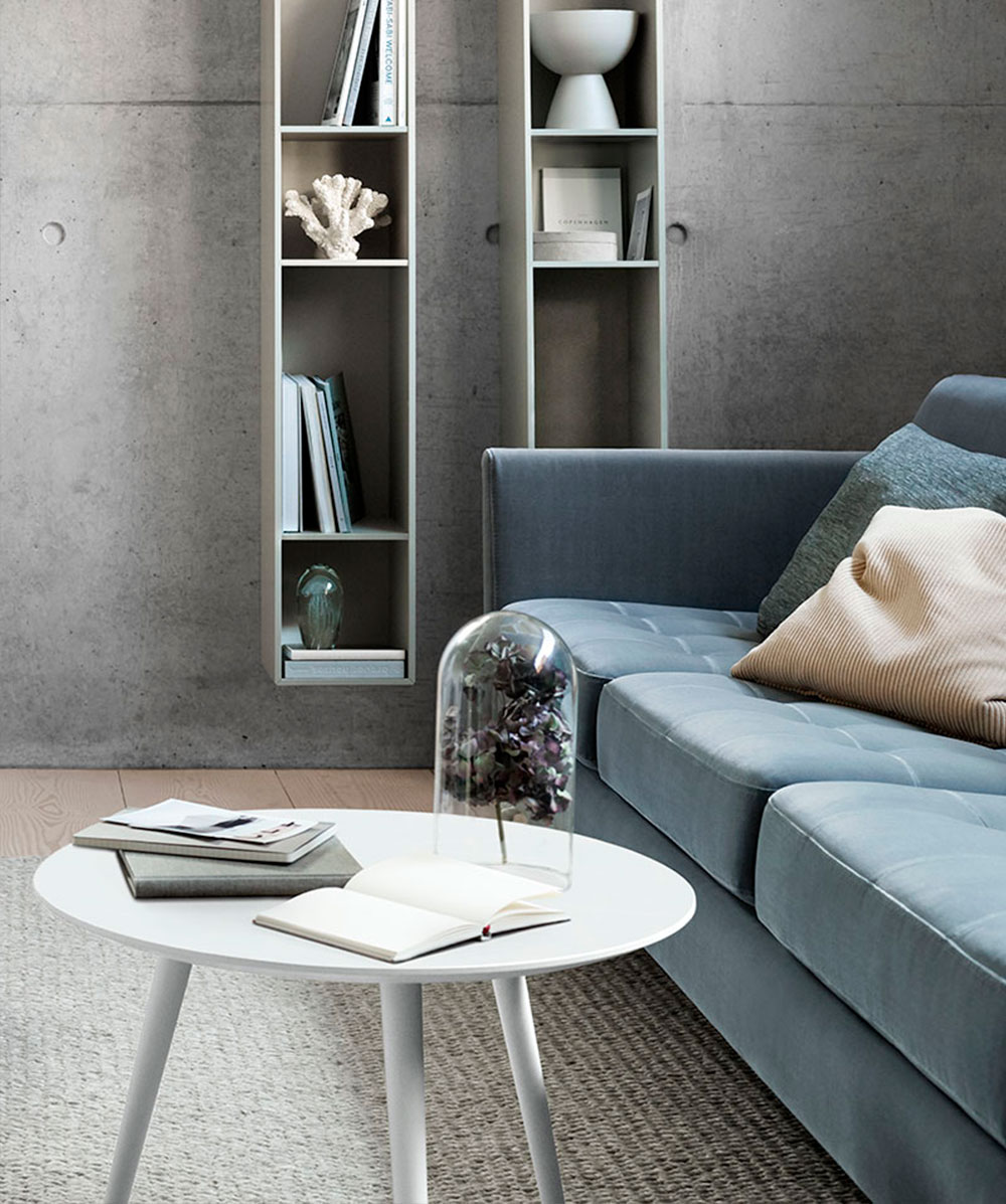 Brown marble Bornholm coffee table