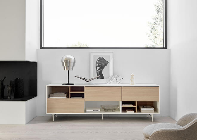 Manhattan sideboard in light colours