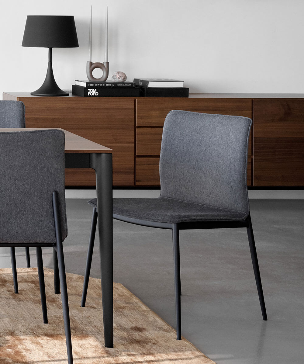 Dark grey Newport dining chair