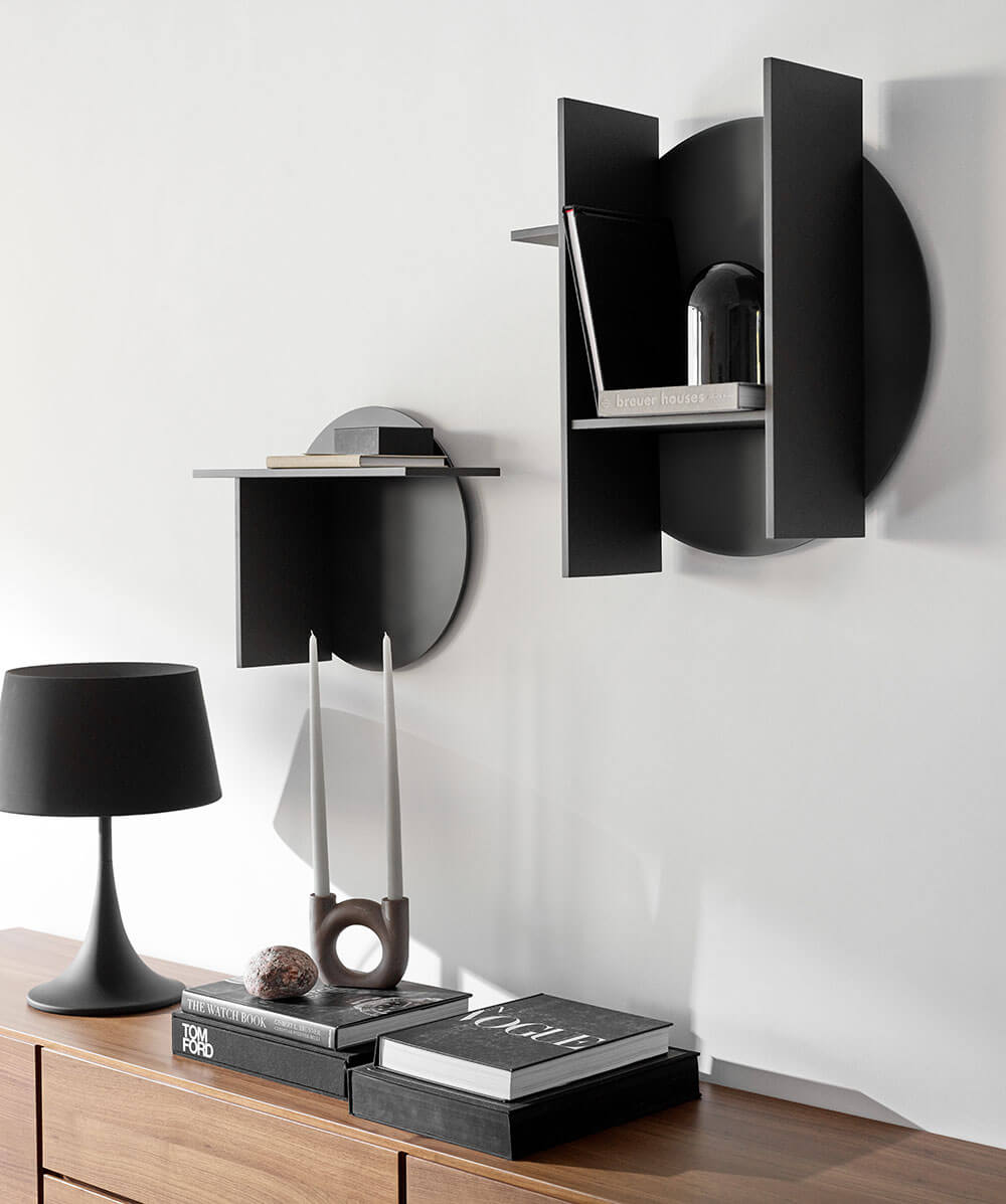 Dark Como shelf