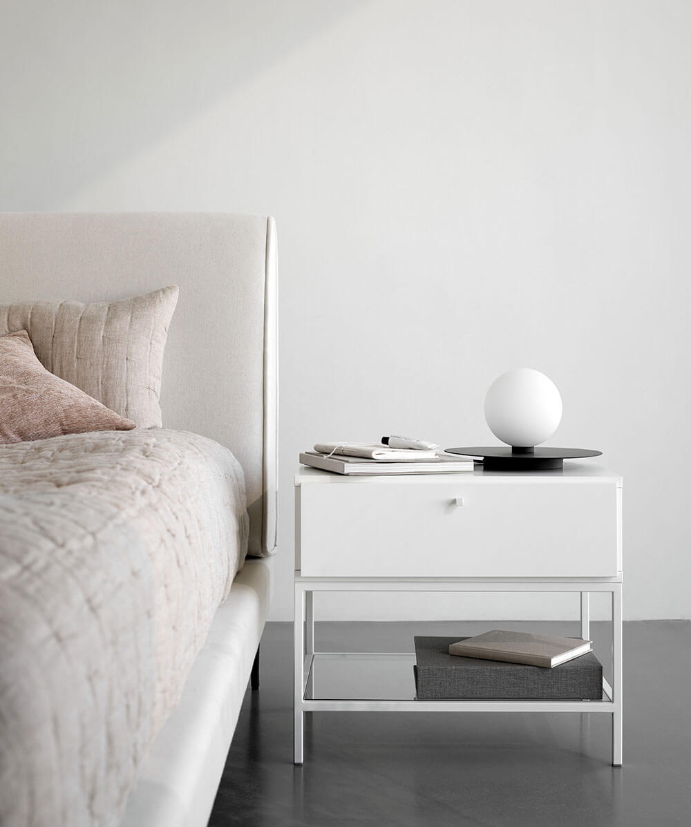 White Bordeaux night stand
