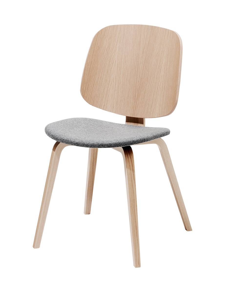 Aarhus chair in oak with grey seat