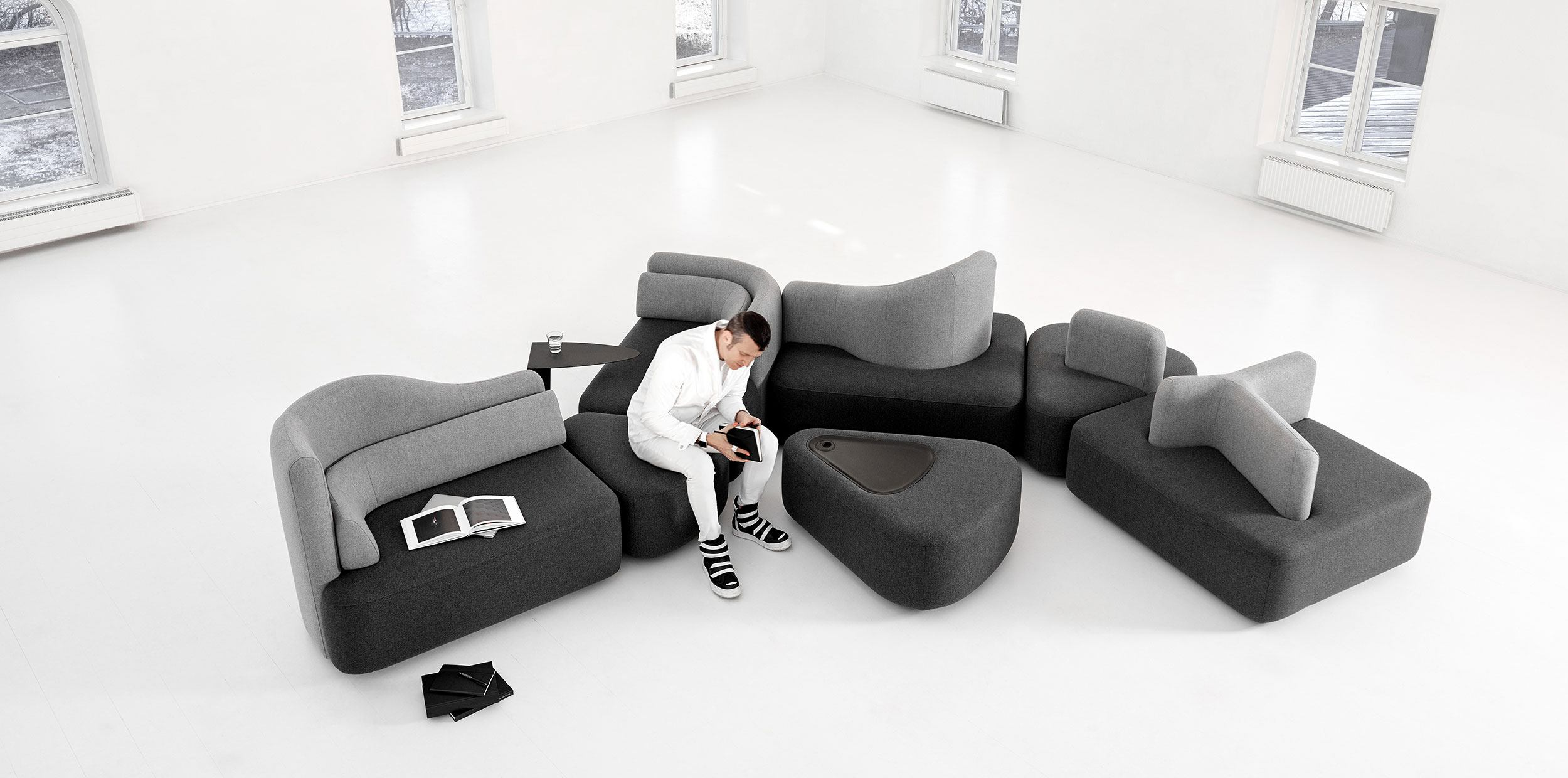 Ottawa modular sofa set in white room