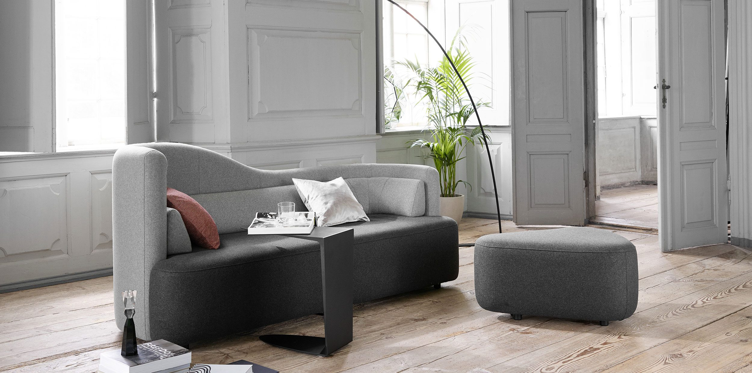 Two coloured Ottawa sofa in living room