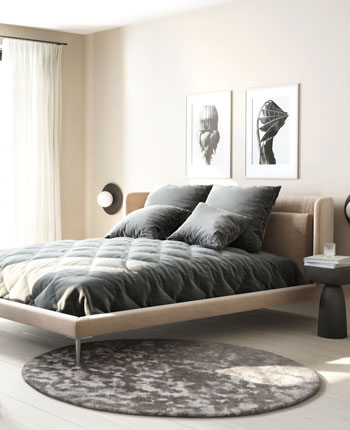 Bedroom with Austin bed