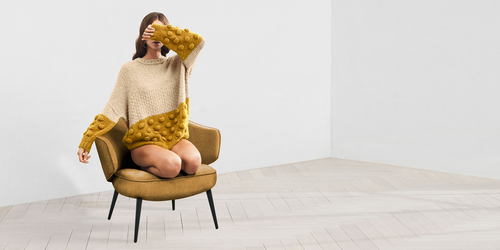 Girl In Yellow Charlotte chair