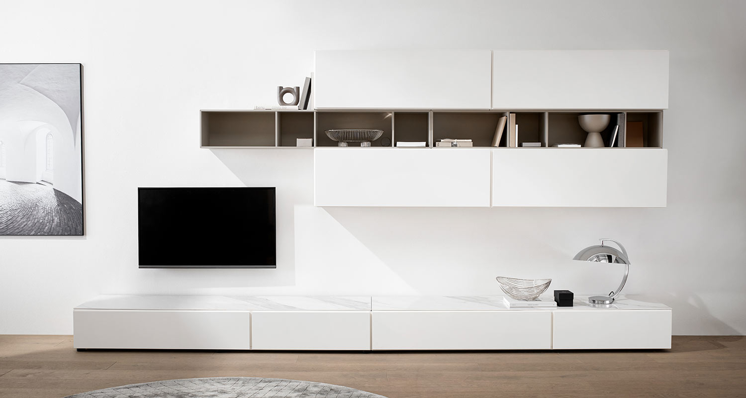 White tv unit large