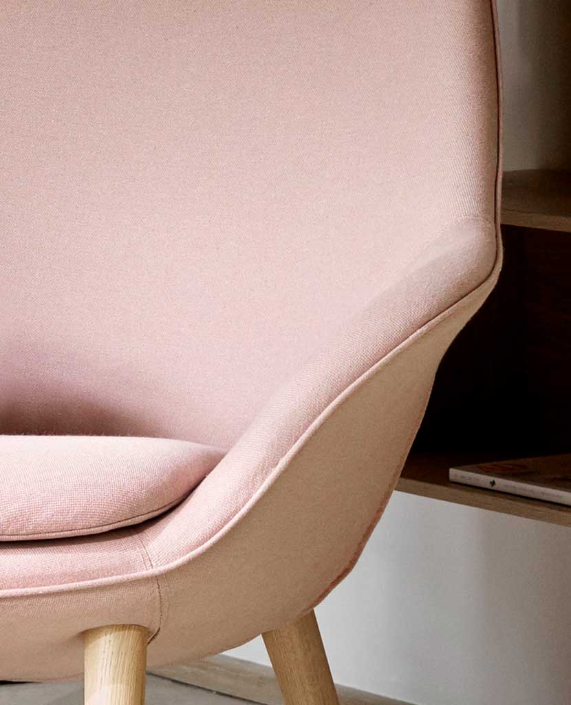 Adelaide chair in dusty rose