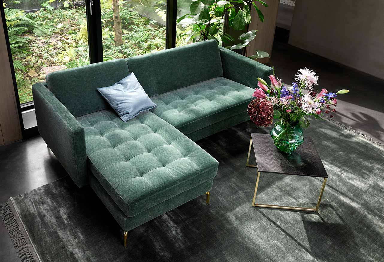Green Osaka Sofa in living room