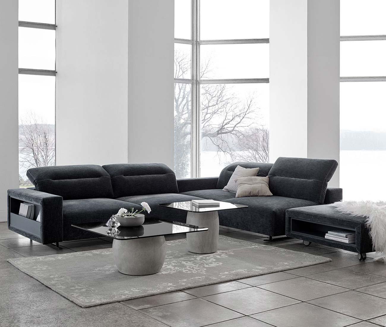 A velvet or felt corner sofa?