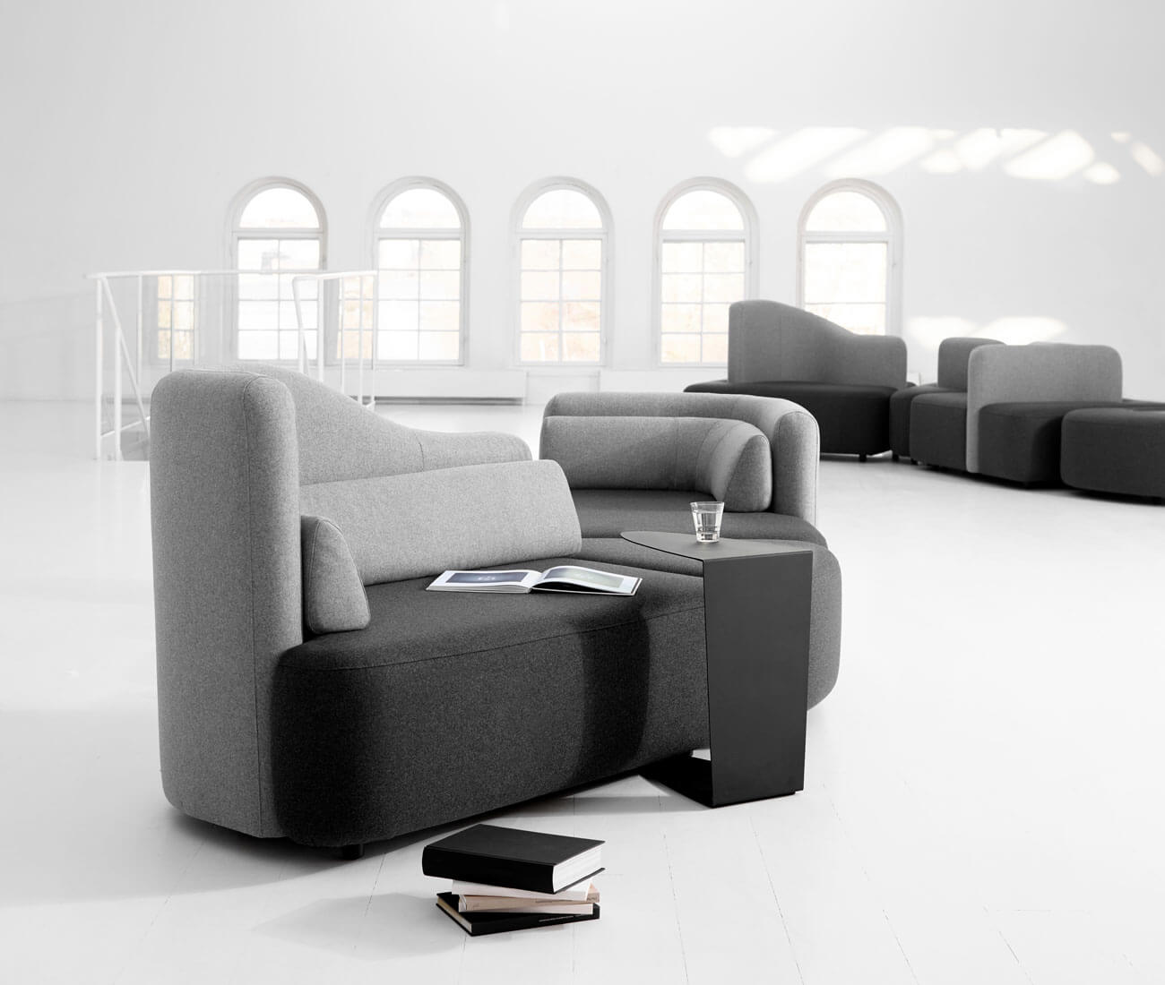 Fabric modular sofas