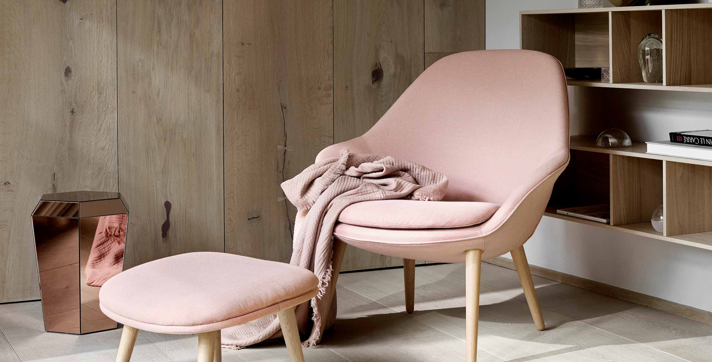 Dusty rose chair